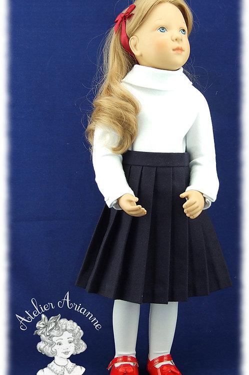 Jupe plissée pour poupée Finouche
