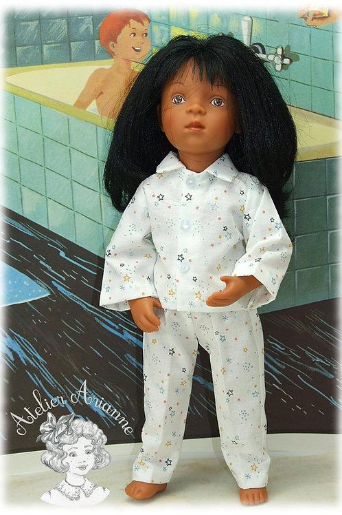 Bonne Nuit Tenue pour poupée Minouche 33 cm (garçon)