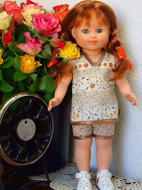 Tenue pour poupée Modes et Travaux Françoise, Marie-Françoise Juillet 1964