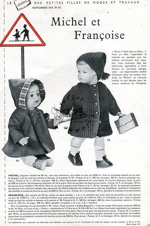Page Modes et Travaux Septembre 1958 avec mini patron