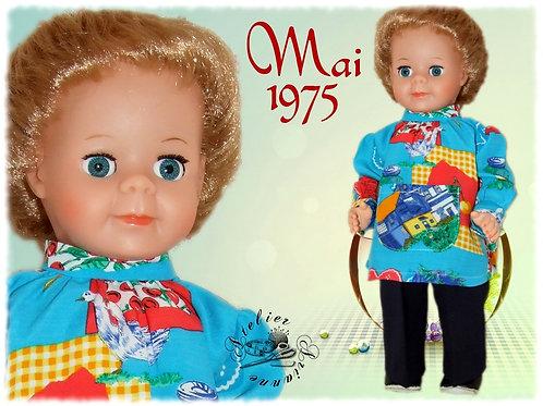 Tenue pour poupée Jean-Michel Modes et Travaux Mai 1975