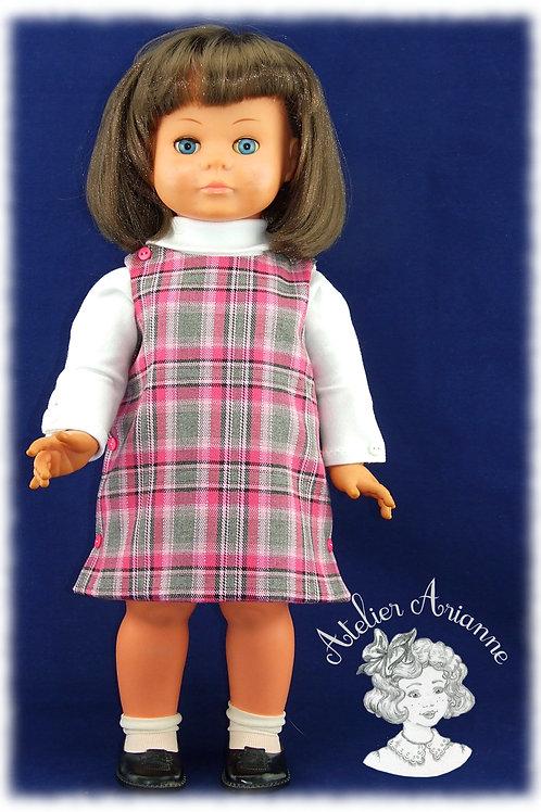 Tenue Clotilde pour poupée Rosereine