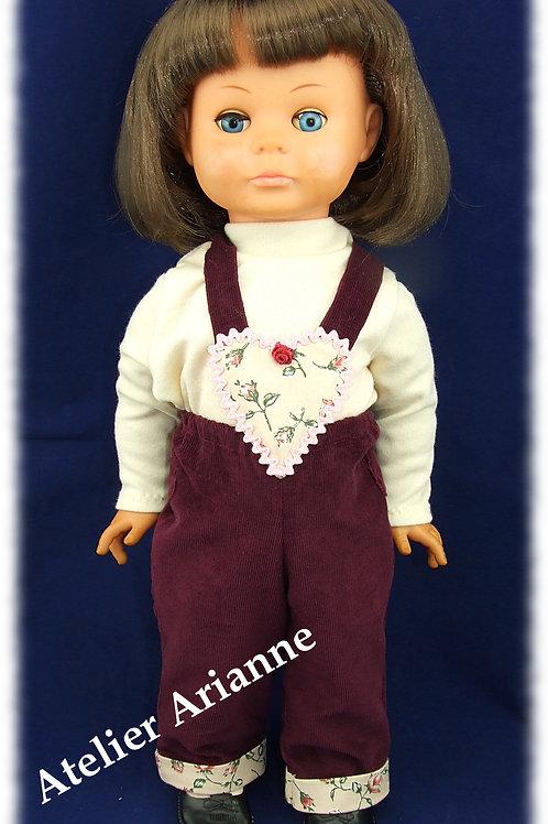 Tenue Celestine pour poupées Rosereine et autres poupettes de 50 cm