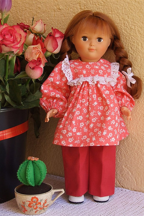 Tenue pour poupée Françoise , Marie- Françoise Modes et Travaux Septembre 1982