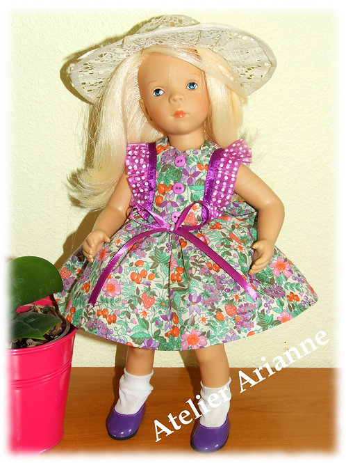 Tenue Violette pour poupées Corolle, Paola Reina, Minouche, LD .. 33 cm