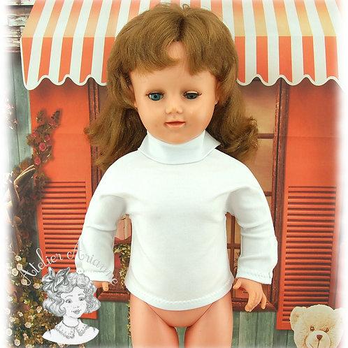 Col roulé en jersey pour poupées de 55-60 cm