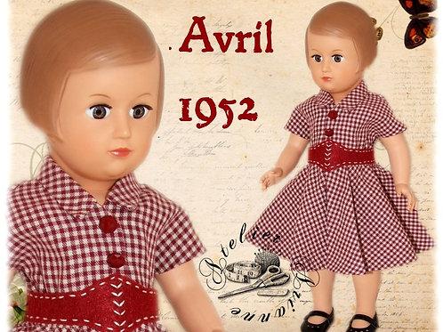 Tenue M&T pour Françoise , Marie-Françoise Avril 1952