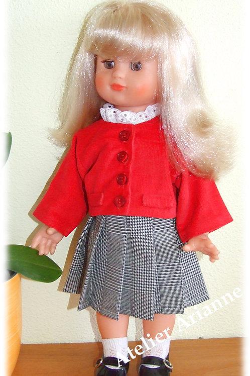 Tenue pour Emilie poupée Modes et Travaux Février 1989