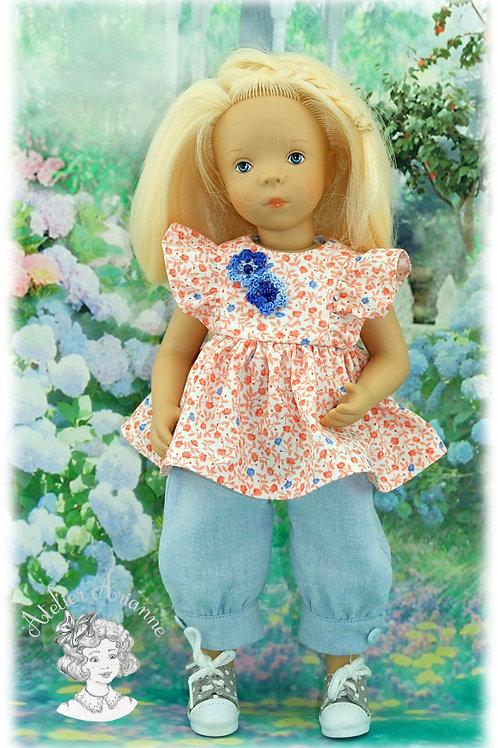 Tenue Paloma pour poupées:  Minouche, Chérie de Corolle et Las Amigas