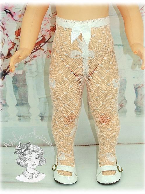 Collant dentelle nœuds pour poupées Marie-Françoise