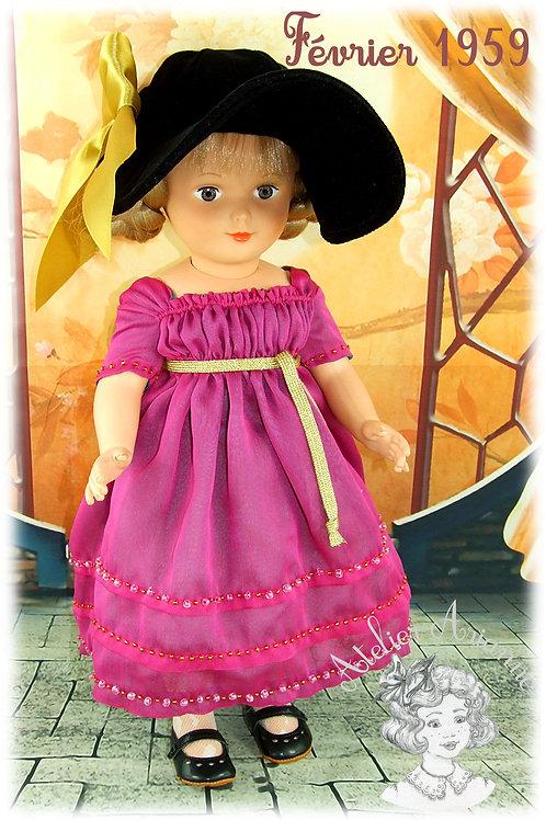 Tenue Février 1959 pour poupée de Modes et Travaux, Francette
