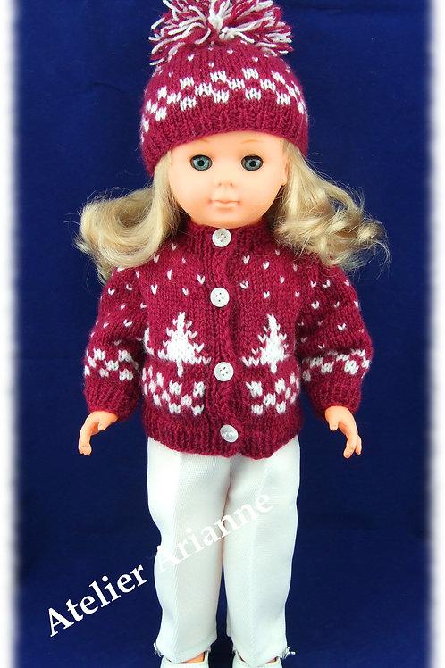 Tenue Inès tricot pour poupée Marie-Françoise de Modes et Travaux