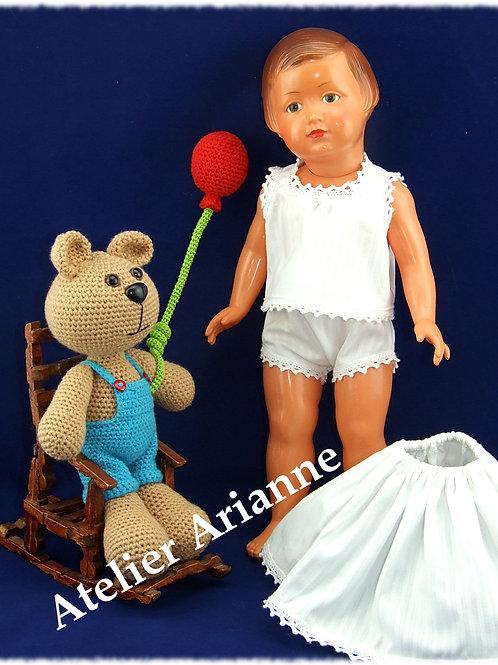 Lingerie d'antan pour poupée Françoise Modes et Travaux