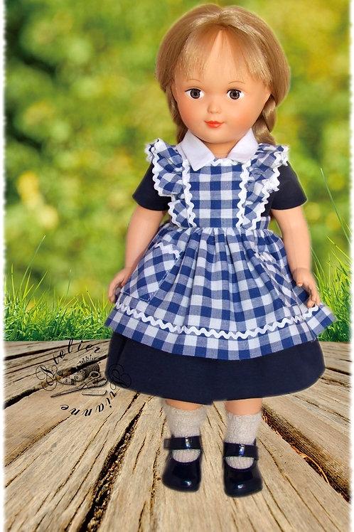 Tenue poupée Modes et Travaux pour Françoise Avril 1953