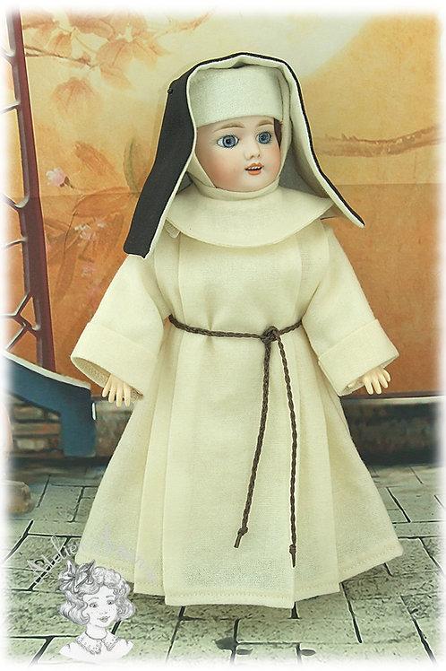 Habit de religieuse pour poupée Bleuette de 27 cm