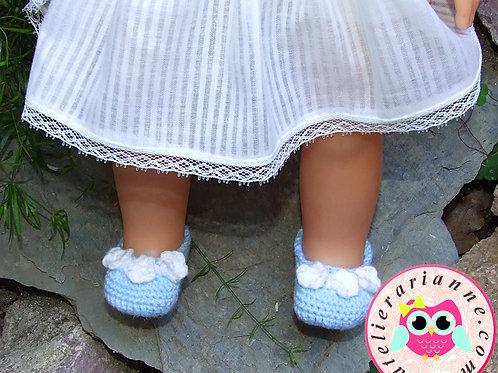 Chaussures crochet pour poupée Corolle Modes et Travaux