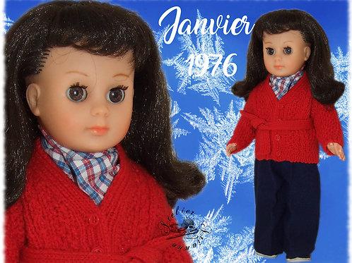 Tenue pour poupée Françoise Modes et Travaux Janvier 1976