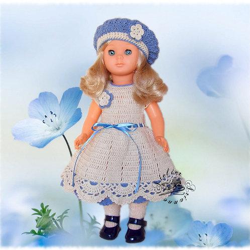 Tenue Sophie pour poupée Francette Marie-Francoise, Modes et Travaux