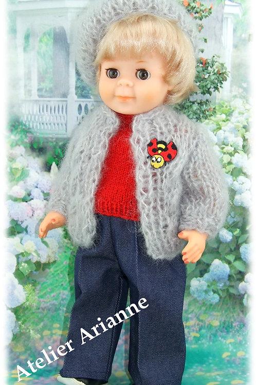 Tenue Valentino pour poupée Jean-Michel Modes et Travaux