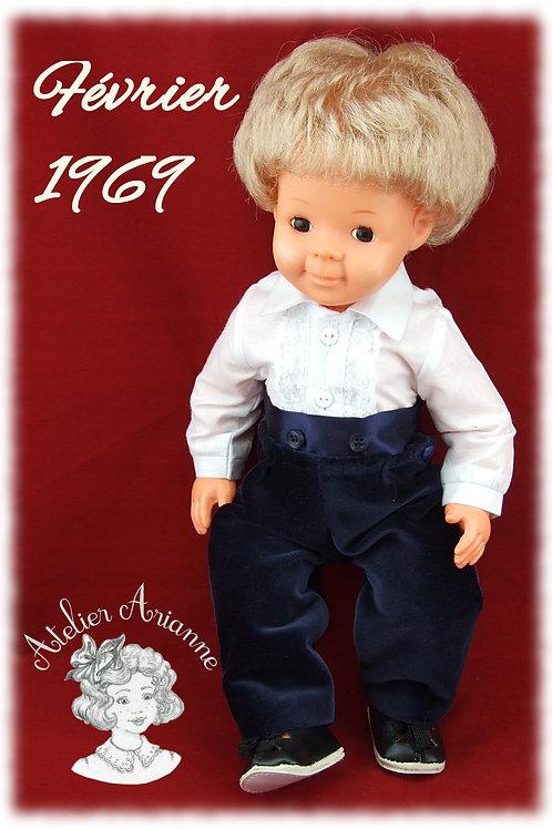 Tenue Février 1969 pour poupée de Modes et Travaux, Michel