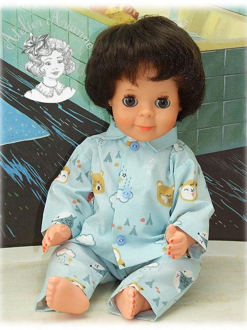 Bonne Nuit Tenue pour poupée Michel de Modes et Travaux ou Sidac