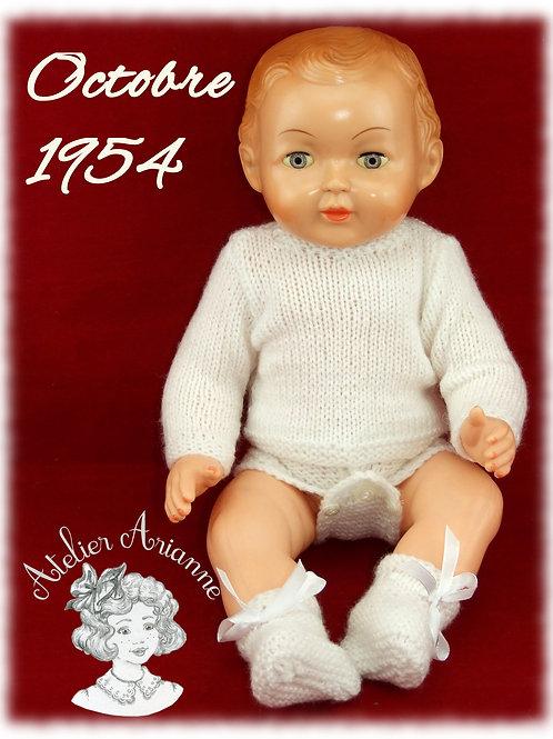 Octobre 1954 Tenue pour poupée Michel Modes et Travaux