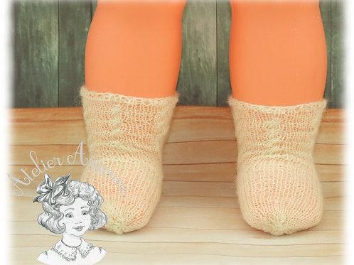Chaussettes écru tricotées pour EVF 50 cm