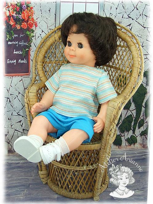 Juin 1984-Tenue pour poupée Michel de Modes et Travaux