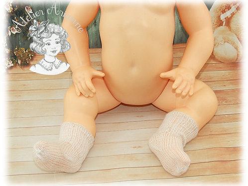 Chaussettes pour poupées et baigneurs de 50  cm