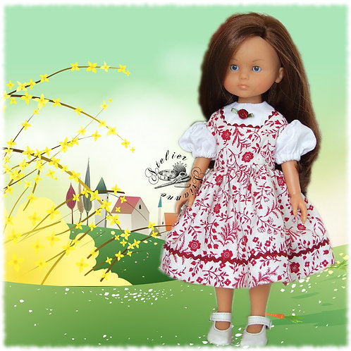 "Tenue ""Rose"" pour poupée Corolle ou Paola Reina 33 cm"