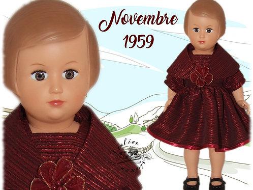 Tenue pour poupée Françoise Modes et Travaux Novembre 1959
