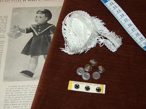 Kit 101 couture Modes et Travaux Françoise,  Décembre 1954