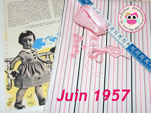Kit 47 couture Modes et Travaux Françoise,  Juin 1957