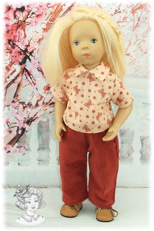PAPILLON -Tenue pour poupée Minouche de Petitcollin (garçon ou fille )