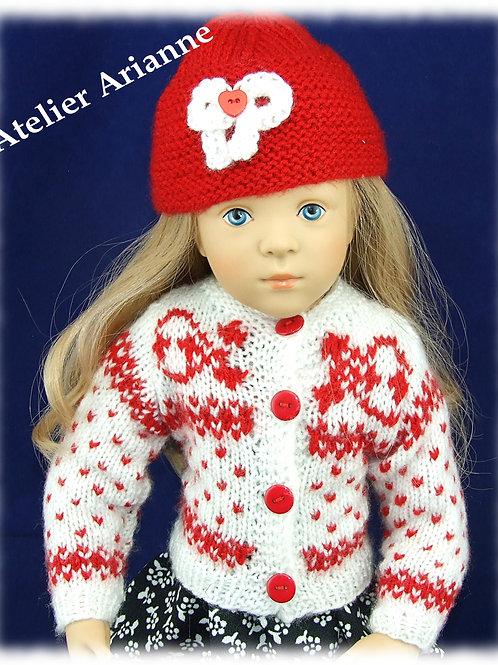 Tenue Sara, tricot pour poupées Finouche, Gotz, Journey Girl