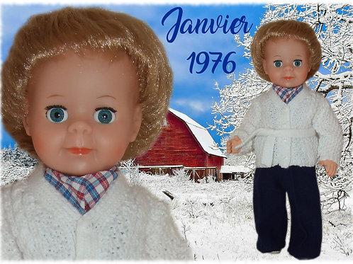 Tenue pour poupée Jean-Michel Modes et Travaux Janvier 1976