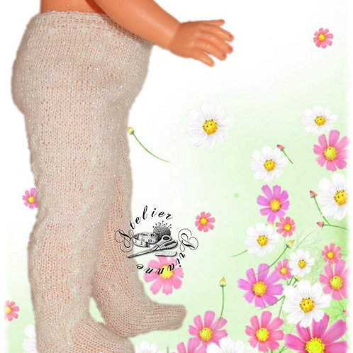 Collants tricot pour poupée Françoise Modes et Travaux