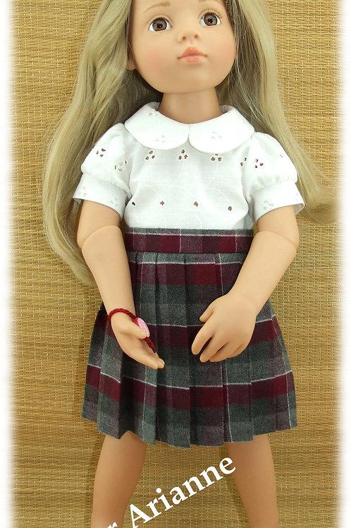 Jupe plissée pour poupée Gotz