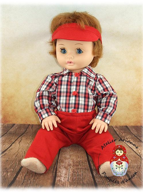 Reproduction de la tenue originale pour poupée Marc de Bella