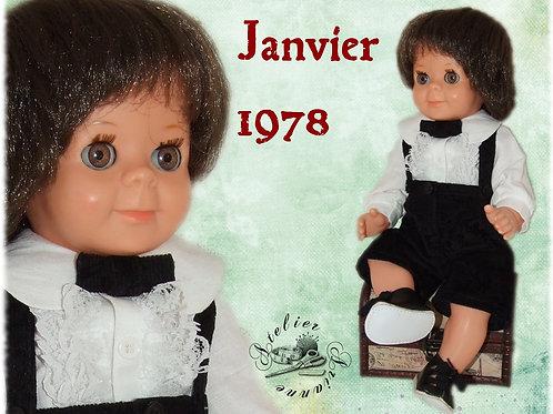 Vêtement pour poupon Modes et Travaux Michel Janvier 1978
