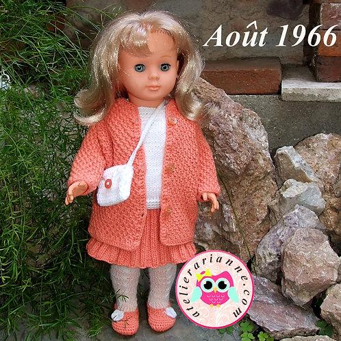 Tenue pour poupée Françoise Modes et Travaux Août 1966