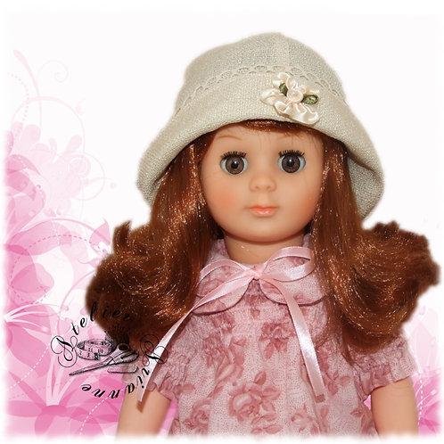 Chapeau pour poupée Françoise Modes et Travaux Broderie Anglaise