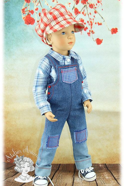 Johan- tenue d'après une illustration de Sarah Kay pour poupée Finouche garçon