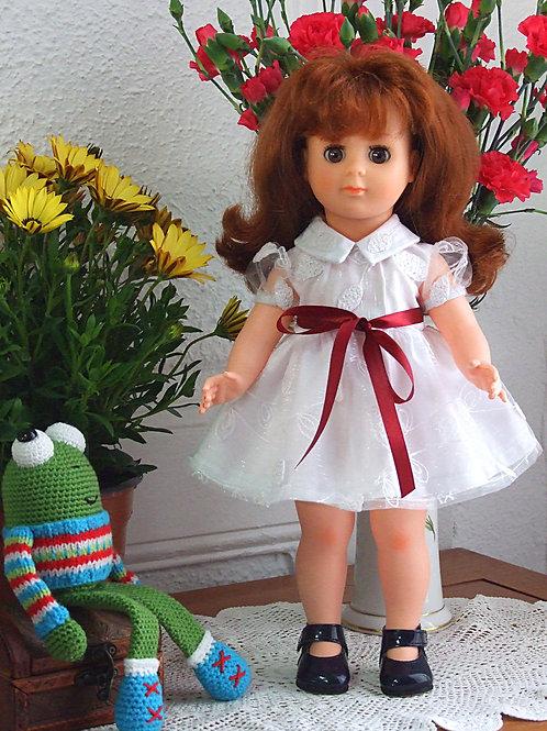 Tenue pour poupée Marie- Françoise Modes et Travaux Juin 1958