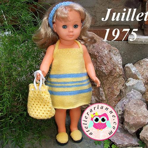 Tenue pour poupée Françoise Modes et Travaux Juillet 1975
