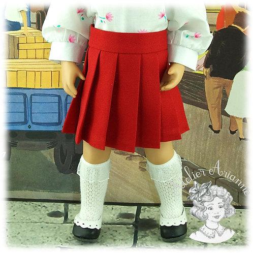 Jupe plissée pour poupée Manouche