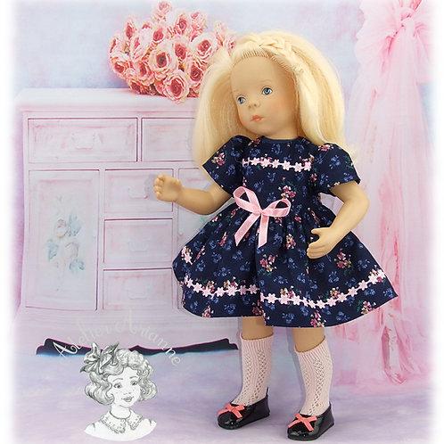 Robe Léonie pour poupées Minouche, Corolle et Paola Reina de 33 cm