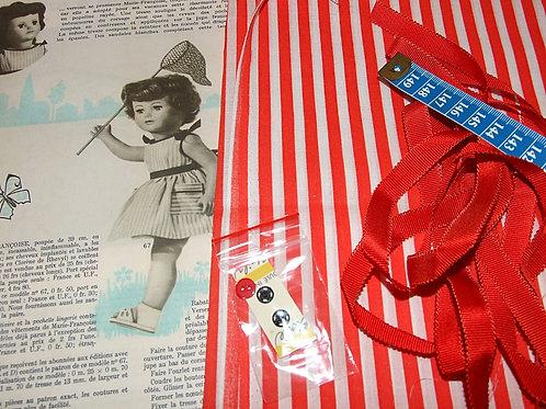 Kit 66 couture Modes et Travaux Marie-Françoise,  Juillet 1963