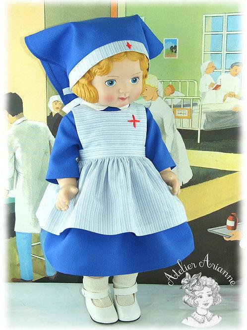Reproduction d'une tenue d'origine pour poupée Jumeau de 45 cm