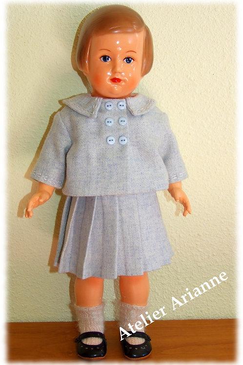 Tenue pour poupée Françoise Modes et Travaux Mai 1956